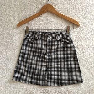 Brandy Melville black white gingham Juliette skirt